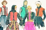 1970s Dramatic Bohemian Vests Bolero Jackets Pattern Vogue 9672 Vintage Sewing Pattern Five Unique Styles Day or Evening Size Small