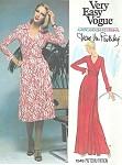 1970s Vogue 1549 DVF Vintage Sewing Pattern The Quintessential Diane Von Furstenberg Wrap Dress  Very Easy To Sew Wrap Around Dress Bust 34 American Hustle Era