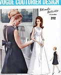 1960s Beautiful Belinda Bellville Evening Dress Gown Pattern Vogue Couturier Design 2112 Gorgeous Design Size 10 Vintage Sewing Pattern