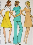1970s Dress, Tunic and Flare Pants Pattern McCalls 3540 Vintage Sewing Pattern Dress In 2 styles Bust 34 UNCUT