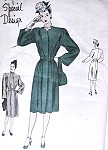 1940s Classy Belted Coat Pattern Slim Back, Fullness at Front Very Film Noir style Vogue special Design 4620 Vintage Sewing Pattern Bust 34