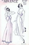 1940s Beautiful Slip Lingerie Pattern V Back Tea Length Full Slip Two Style Versions Perfect Under Sheer Dresses Advance 5157 Vintage Sewing Pattern Bust 32