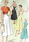 1940s Beautiful Sun Dress and Jacket McCall 7910 Around The Clock Dress Stunning Design Evening or Daytime Fit and Flare  Bust 30 Vintage Sewing Pattern