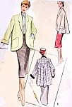 1950s LOVELY Swing Back Coat Jacket Pattern McCall 8431 Cutaway Front, Shaped Pockets Beautiful Design Bust 32 Vintage Sewing Pattern
