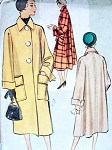 1950s Coat Pattern McCall 8203 Classy Loose Fitting, Deep Cuffs, Large Pockets Bust 34 Vintage Sewing Pattern FACTORY FOLDED