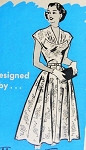 1950s Beautiful Dress Pattern Gathered Bodice Full Skirt Marian Martin 9365 Vintage Sewing Pattern Bust 34