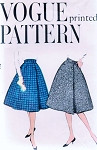 1950s Wrapped Skirt and Petticoat Pattern Easy To Make Vogue 9556 Waist 26 Vintage Sewing Pattern