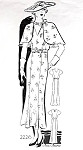 1930s Beautiful Dress and Cape Pattern Anne Adams 2226 Flattering V Neckline Tea or Ankle Length Dress Perfect Party or Summer Dress Bust 38 Vintage Sewing Pattern FACTORY FOLDED