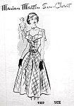 1950s Beautiful Dress Pattern Marian Martin 9322 Flattering Style Day or Party Low Back Bust 34 Vintage Sewing Pattern