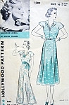 Beautiful 1930s Evening Dress Pattern Hollywood 1382 Featuring Movie Star Madeleine Carroll Sew Simple Frock Party Cocktail or Formal Lengths Bust 34 Vintage Sewing Pattern