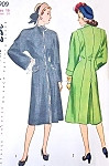 1940s Princess Coat Pattern Simplicity 1909 Slim Princess Line Fitted Coat Lovely Style Details Bust 34 Vintage Sewing Pattern FACTORY FOLDED