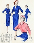 1950s Slim Dress and Jacket Cocktail Evening Pattern Butterick 6528 Versatile Day or Evening Slim Dress Plus Dickey Cuffs, Glamorous Overskirt and  Spencer Jacket Vintage Sewing Pattern FACTORY FOLDED
