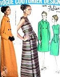 1960s Vogue Couturier Design 1691 Fabiani Gorgeous Evening Gown and Coat Pattern Formal or Cocktail Length Pure Elegance Bust 31 Vintage sewing pattern