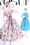1950s Beautiful Party or Day Dress Pattern Vogue 9114 Fitted Bodice, 2 Necklines Full Skirt Bust 34 Vintage Sewing Pattern FACTORY FOLDED
