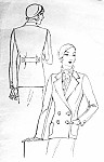1930s Marlene Dietrich Style Double Breasted Jacket Pattern Pictorial Review 6080 Chic Tailored Jacket Menswear Classic 30s Style Bust 36 Vintage Sewing Pattern FACTORY FOLDED
