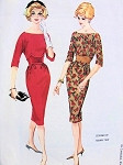 1960s Lovely Hannah Troy Cocktail Dress Pattern McCalls 5591 Beautiful Midriff Desidn Slim Skirt Bateau Neckline Evening or Day Dress Petite Bust 36 Vintage Sewing Pattern