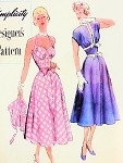 1950s Beautiful Sundress and Bolero Jacket Pattern Simplicity Designer 8288 Lovely Halter  Sweetheart Neckline Cocktail Party Dress Bust 30 Vintage Sewing Pattern