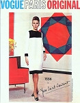 RARE 1960s YSL MONDRIAN Color Block Dress Pattern Iconic Yves Saint Laurent Vogue Paris Original 1556 Mod Shift Day or Cocktail Evening Dress Bust  32 Vintage Sewing Pattern + Vogue Label