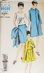 1960s MOD Two Pc Dress and Coat Pattern Vogue  Special Design 6742   Sleeveless Overblouse, Slim Skirt ALine Coat Bust 34 Vintage Sewing Pattern FACTORY FOLDED