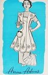 1950s Pretty Scalloped  Petal Shape Hostess Apron Pattern Anne Adams 4829 Full Bib or Half Aprons  Vintage Sewing Pattern FACTORY FOLDED