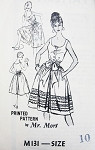 Early 60s Culottes Dress Pattern Prominent Designer M131 Mr Mort Design Low Neckline Full  Divided Skirt  Bust  31 Vintage Sewing Pattern