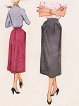 1950s Lovely One Piece Slim Skirt Pattern McCalls 9690 Classy Versatile Vintage Sewing Pattern Waist 26 FACTORY FOLDED