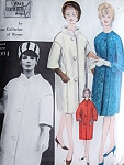 Early 60s Galitzine Elegant Coat Pattern Vogue Couturier Design 1094 High Fashion Bulky Coat Day or Evening 2 Styles Bust 32 Vintage Sewing Pattern FACTORY FOLDED