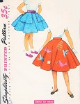 1950s Adorable Girls Full Circle Skirts Pattern Simplicity 4879 Includes Applique Transfers For Felt Skirt  Sz 8 Simple To Make Vintage Sewing Pattern FACTORY FOLDED
