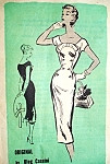 1950s OLEG CASSINI Slim Day or Evening Dress Pattern Prominent Designer A686 Figure Show Off Dress Bust 32 Vintage Sewing Pattern