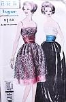 1960 Glamorous Evening or Cocktail Dress Pattern VOGUE SPECIAL DESIGN 4181 Strapless or Shoestring Straps With Cummerbund Pure Elegance Bust 32 Vintage Sewing Pattern FACTORY FOLDED