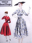 1950s Beautiful Dress Pattern VOGUE SPECIAL DESIGN 4278 Cocktail Party Dress Gathered Inset Panels Optional Belt Crinoline Hip Pad Bust 40 Vintage Sewing Pattern FACTORY FOLDED