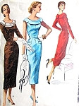 1950s BOMBSHELL Slim Dress Pattern McCALLS 3461 Figure Show Off Day or Cocktail Dress Bust 32 Vintage Sewing Pattern FACTORY FOLDED