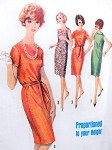 1960s Slim Dress Pattern SIMPLICITY 5794 Three Style Versions Bust 36 Vintage Sewing Pattern