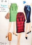 Early 1960s Slim Classy Skirt Pattern VOGUE 5315 Easy To Make 3 Styles Waist 30 Vintage Sewing Pattern FACTORY FOLDED