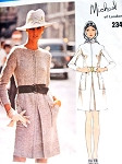 1970s Classy Michael of London Dress Pattern VOGUE COUTURIER DESIGN 2346 Front Inverted Pleat Unique Pockets Bust 34 Vintage Sewing Pattern FACTORY FOLDED