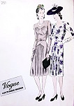 Late 30s Dinner Cocktail Party Dress Pattern VOGUE COUTURIER DESIGN 251 Sweetheart Neckline Flattering Gathers Very Film Noir Style Bust 34 Vintage Sewing Pattern A Rare Vogue!