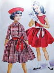 1960s Lovely Girls Party Twirl Dress and Double Breasted Jacket Pattern McCalls 5578 Cute Kawaii Style Size 8 Vintage Sewing Pattern