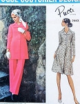 1970s PUCCI Coat Dress or Tunic and Pants Pattern VOGUE COUTURIER DESIGN 2443 Bust 34 Vintage Sewing Pattern