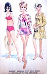 1960s Swimsuit and Beach Coverup Pattern McCALLS 8285 Cute Two Pc Bathing Suit Swimming Suit Cover Up In 2 Lengths Bust 34 Vintage Sewing Pattern