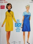 1960s Mod Dress Pattern BUTTERICK 5123 EASY To Sew  Slim Dress With or Without Contrast V Neckline Bust  32.5 Vintage Sewing Pattern FACTORY FOLDED