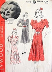 Late 1930s Beautiful Dress Pattern Hollywood 1774 Ruched Detail Styles Perfect For Sheer Fabrics Franciska Gaal Movie Starlet Bust 36 Vintage Sewing Pattern
