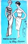 1960s Elegant Oleg Cassini Evening Gown Cocktail Dress Pattern PROMINENT DESIGNER  A921 Single Shoulder Classy Evening Dress 2 Lengths Bust 36 Vintage Sewing Pattern FACTORY FOLDED