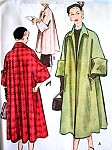 1950s LUXURIOUS Swing Back Coat Pattern McCall 8294 Gorgeous Full Coat in 2 Lengths Lovely Deep Cuffs Size 10  Vintage Sewing Pattern