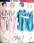 1960s BEAUTIFUL Lanvin Castillo Evening Dress and Coat Pattern VOGUE PARIS 1082  Almost Off Shoulders Elegant Cocktail Party Dress Full Coat Bust 32 Vintage Sewing Pattern UNCUT