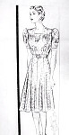 BEAUTIFUL 1930s Dress Pattern MARIAN MARTIN 9314 Pretty Gathered Bodice Puff Sleeves Flirty Skirt Dress Bust 40 Vintage Sewing Pattern FACTORY FOLDED