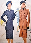 1940s Film Noir Style Slim Suit Pattern McCALL 6594 Eye Catching Tunic Length Jacket Slim Skirt Bust 30 Vintage Sewing Pattern