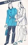 1940s FABULOUS Beach or Sport Coat Pattern BUTTERICK 3718 Beachwear Coverup Jacket or Great Swing Back Car Coat Bust 32 Vintage Sewing Pattern FACTORY FOLDED