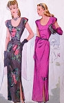 STUNNING 1940s Evening Dress Pattern McCALLS 5921 Side Draped Low Neckline Big Band Era WW II Bust 32 Vintage Sewing Pattern