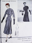 1950s RARE Jacques Heim GORGEOUS Dress Pattern Vogue Original Model 1230  Stunning Design Daytime or Evening Bust 40 FACTORY FOLDED Vintage Sewing Pattern