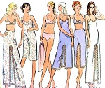 1970s Lingerie Pattern VOGUE 8099 Slip Petticoat Bra and Panties Mid Knee, Midi or Maxi Lengths Full or Half Slips Would Make a Great Slip Dress Bust 34 Vintage Sewing Pattern FACTORY FOLDED